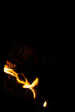 Soft Flame Texture. Soft focus of fire flames texture on a dark background Stock Photo