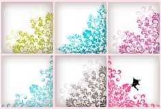 Soft floral background set Stock Images
