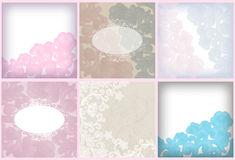 Soft floral background set Royalty Free Stock Photos