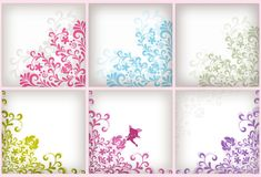 Soft floral background set Royalty Free Stock Images