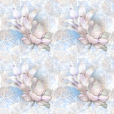 Soft floral pattern Stock Photography