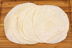 Soft Flour Tortillas Close View Royalty Free Stock Images