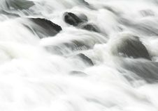Soft Flow. A smooth waterfall Royalty Free Stock Images