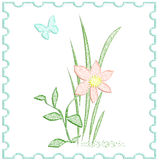 Soft flower poster Royalty Free Stock Photography