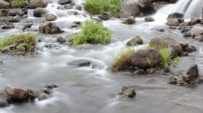 Soft flowing water stock image