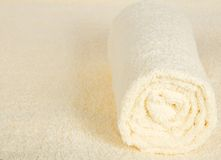 Soft, fluffy towel against a terry cloth Stock Images