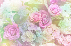 Soft focus of artificial flowers decoration Royalty Free Stock Photos