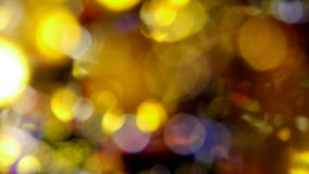 Soft focus christmas lights. Blurred turning colourful lights, with strong bokeh effect stock video footage