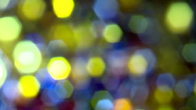 Soft focus christmas lights. Blurred turning colourful lights, with strong bokeh effect stock video