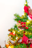 Soft focus of Christmas tree and decorations . Stock Photography