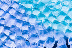 Soft focus fresh cool ice cube. Colored Stock Photos