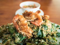 Soft focus of fried shrimp. Royalty Free Stock Image