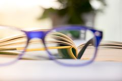 Soft focus glasses. royalty free stock photo