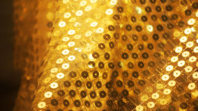 Soft focus gold cloth Stock Photography