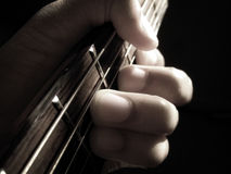 Soft focus Guitar chord Royalty Free Stock Photo