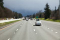 Soft focus Highway. For background royalty free stock photo