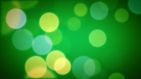 Soft Focus Light Particles Green stock video footage