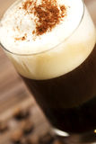Soft focus on milk froth of an espresso coffee wit Stock Photos