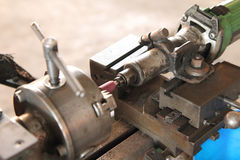 Soft focus old lathe machine Royalty Free Stock Photography