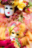 Soft focus picture of venetian carnival mask. Shot with a flou filter to make a dreaming effect Stock Images