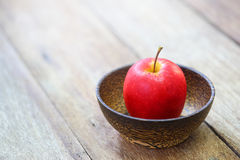 Soft focus red apple in bowl Royalty Free Stock Images