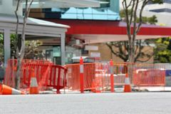 Soft Focus Roadworks Stock Photography