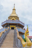 Soft focus the sanctuary,temple, Buddha, symbol of Phaya Nagas with the beam, light and lens flare effect tone.The public properti. Es at Wat Wat Phothisaphorn Royalty Free Stock Image
