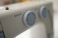 Soft focus sewing machine close up. Stock Images