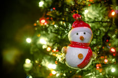 Soft focus snowman on blurry backgroud Royalty Free Stock Image