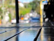 Soft focus Street view across table Stock Image