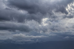Soft focus of strong storm blue cloud sky. Stock Image