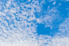 The soft focus surface texture of blue sky, sky love, wonderful sky cloud background. Stock Photography