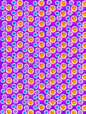 Soft Focused Dots on Purple Royalty Free Stock Image