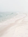 Soft Foggy Seashore Stock Photography
