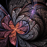 Soft fractal flower or butterfly Stock Photos