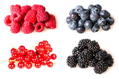 Soft fruit, strawberry, blackberry, blueberry, red currant, raspberry, black currant Stock Photography