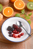 Soft fruit in white plate Stock Image