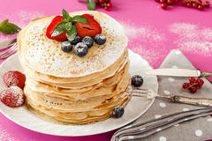 Soft Fruits Pancakes Stock Images