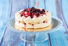 Soft Fruits Tiramisu Cake Stock Image