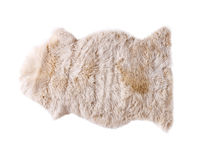 Soft fur carpet isolated Royalty Free Stock Photos