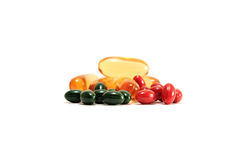 Soft Gelatin Capsule. Nutrition And Vitamin Filling In Colorful Soft Gelatin Capsule Stock Photography