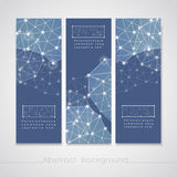 Soft geometric background design for banners set Stock Image