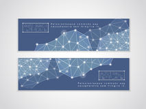 Soft geometric background design for banners set Stock Photo