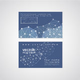 soft geometric background design for business card Stock Photos