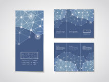Soft geometric background design for tri-fold brochure Royalty Free Stock Image