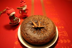 Soft gingerbread cake for Christmas royalty free stock photos