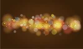 Soft glowing colored bokeh and lights. Royalty Free Stock Photo