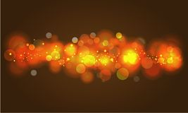 Soft glowing colored bokeh and lights. Stock Image