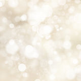 Soft golden abstract Christmas lights. EPS 10. Vector file included Royalty Free Stock Photo