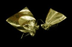 Soft golden bags Royalty Free Stock Image